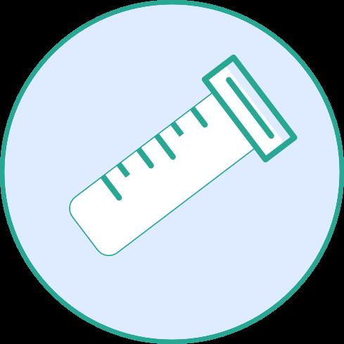 Corona Antigen Gurgel Schnelltest - Probe gut verschließen und ins Labor schicken