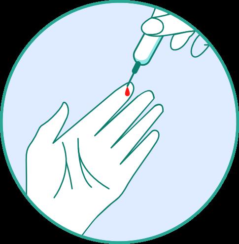 Corona Antikörper Schnelltest - Schritt 1